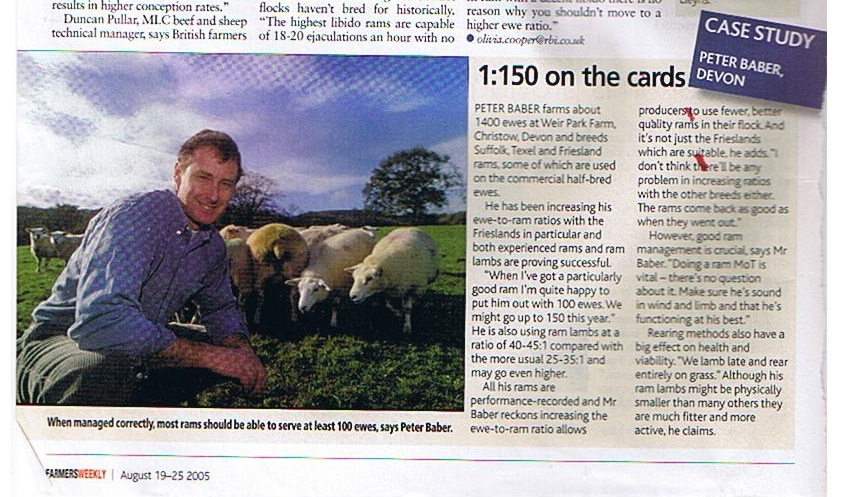 Farmers weekly article