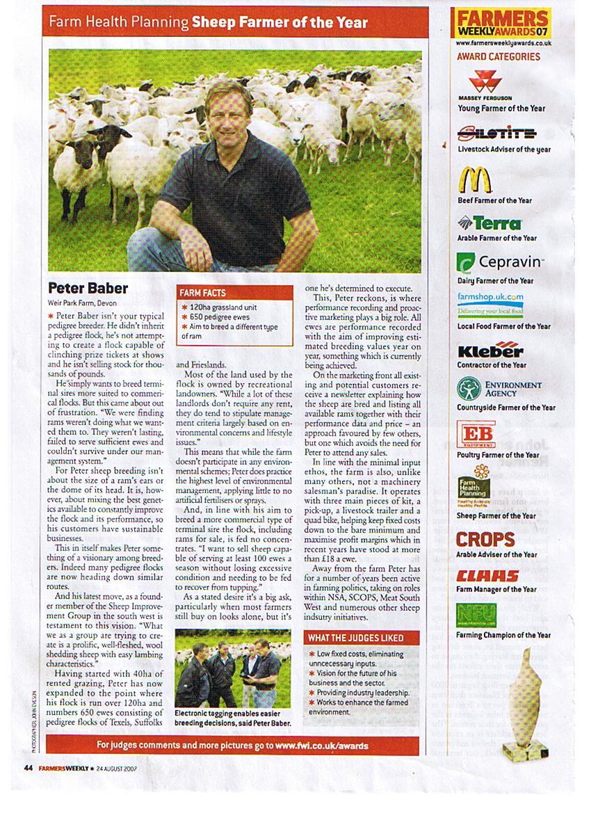 Farmers Weekly Sheep Farmer of the Year 2007